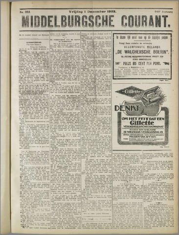 Middelburgsche Courant 1922-12-01