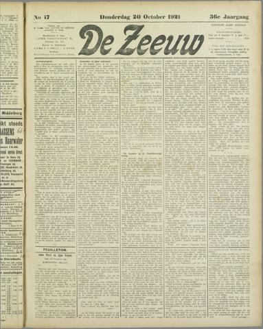 De Zeeuw. Christelijk-historisch nieuwsblad voor Zeeland 1921-10-20