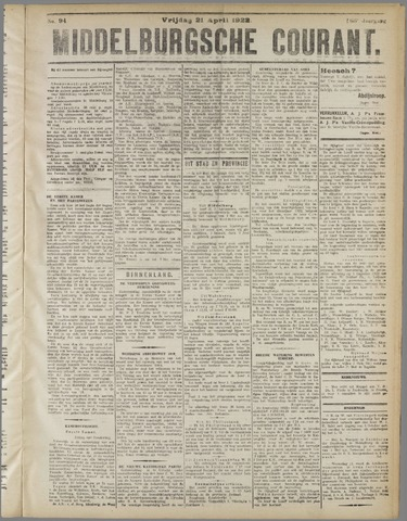 Middelburgsche Courant 1922-04-21