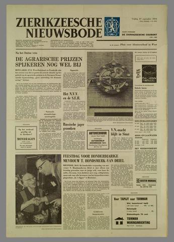 Zierikzeesche Nieuwsbode 1974-09-27