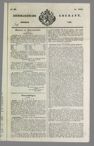 Zierikzeesche Courant 1844-05-07
