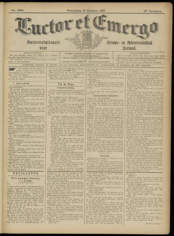 Luctor et Emergo. Antirevolutionair nieuws- en advertentieblad voor Zeeland / Zeeuwsch-Vlaanderen. Orgaan ter verspreiding van de christelijke beginselen in Zeeuwsch-Vlaanderen 1915-10-13