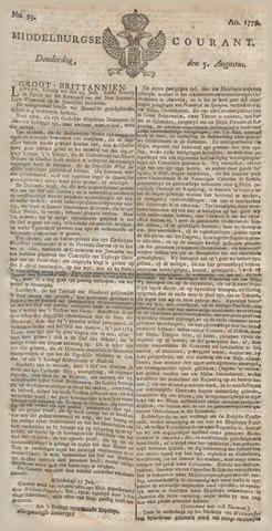 Middelburgsche Courant 1779-08-05