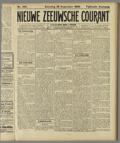 Nieuwe Zeeuwsche Courant 1919-09-13