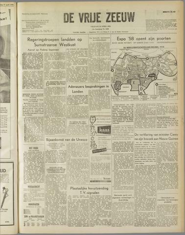 de Vrije Zeeuw 1958-04-18