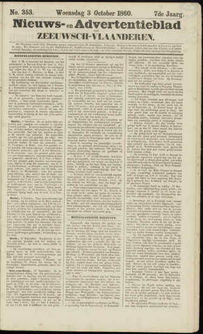 Ter Neuzensche Courant. Algemeen Nieuws- en Advertentieblad voor Zeeuwsch-Vlaanderen / Neuzensche Courant ... (idem) / (Algemeen) nieuws en advertentieblad voor Zeeuwsch-Vlaanderen 1860-10-03