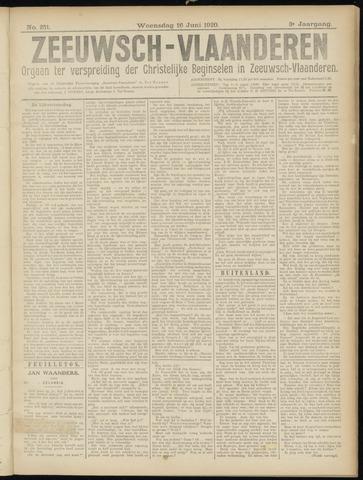 Luctor et Emergo. Antirevolutionair nieuws- en advertentieblad voor Zeeland / Zeeuwsch-Vlaanderen. Orgaan ter verspreiding van de christelijke beginselen in Zeeuwsch-Vlaanderen 1920-06-16