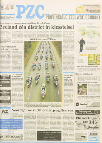Provinciale Zeeuwse Courant 2003-11-29