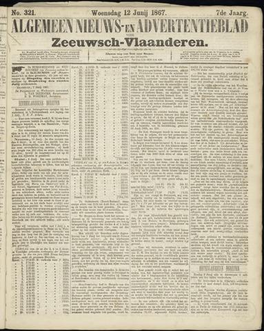 Ter Neuzensche Courant. Algemeen Nieuws- en Advertentieblad voor Zeeuwsch-Vlaanderen / Neuzensche Courant ... (idem) / (Algemeen) nieuws en advertentieblad voor Zeeuwsch-Vlaanderen 1867-06-12