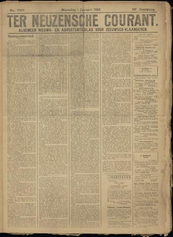 Ter Neuzensche Courant. Algemeen Nieuws- en Advertentieblad voor Zeeuwsch-Vlaanderen / Neuzensche Courant ... (idem) / (Algemeen) nieuws en advertentieblad voor Zeeuwsch-Vlaanderen 1923-01-01