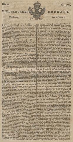 Middelburgsche Courant 1775-01-05