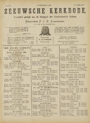 Zeeuwsche kerkbode, weekblad gewijd aan de belangen der gereformeerde kerken/ Zeeuwsch kerkblad 1890-12-20