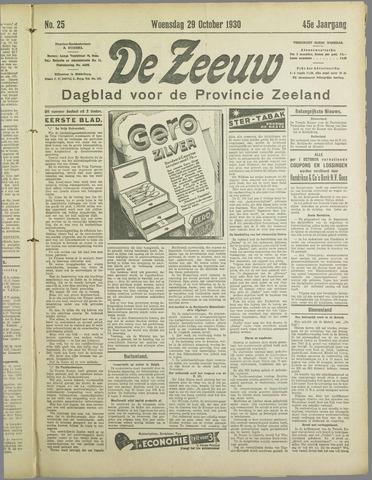 De Zeeuw. Christelijk-historisch nieuwsblad voor Zeeland 1930-10-29