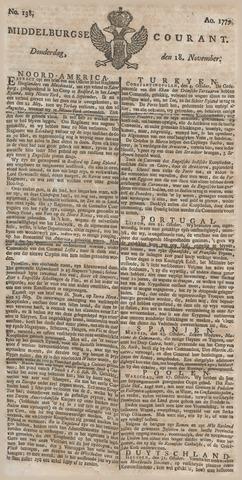 Middelburgsche Courant 1779-11-18