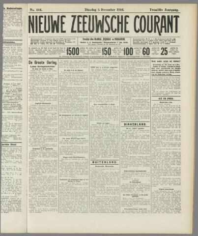 Nieuwe Zeeuwsche Courant 1916-12-05