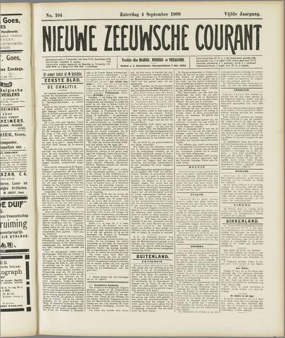 Nieuwe Zeeuwsche Courant 1909-09-04