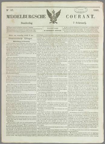 Middelburgsche Courant 1861-02-07
