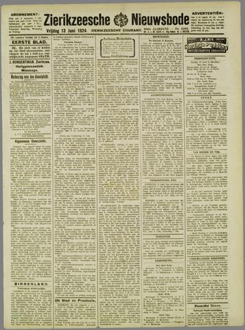 Zierikzeesche Nieuwsbode 1924-06-13