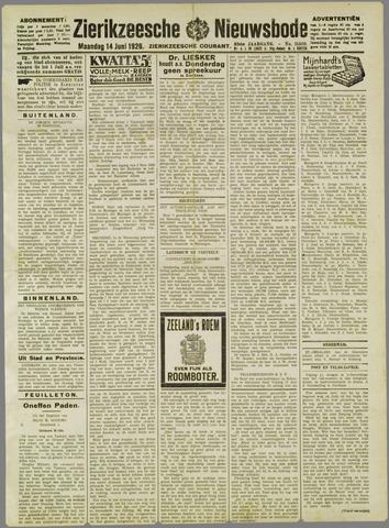Zierikzeesche Nieuwsbode 1926-06-14