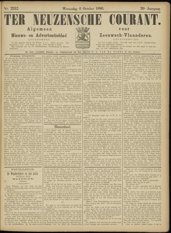 Ter Neuzensche Courant. Algemeen Nieuws- en Advertentieblad voor Zeeuwsch-Vlaanderen / Neuzensche Courant ... (idem) / (Algemeen) nieuws en advertentieblad voor Zeeuwsch-Vlaanderen 1886-10-06