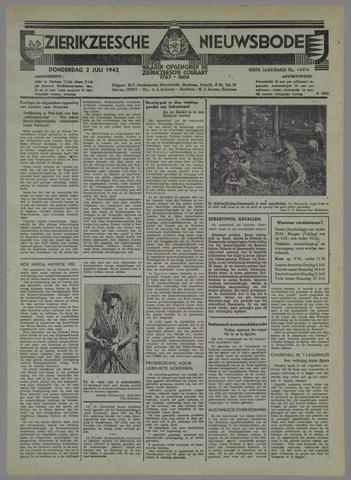 Zierikzeesche Nieuwsbode 1942-07-02