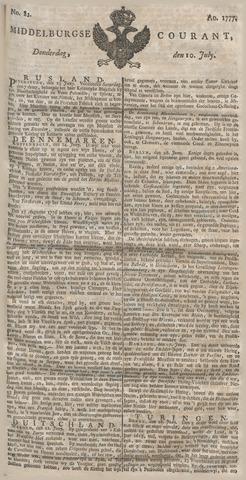 Middelburgsche Courant 1777-07-10