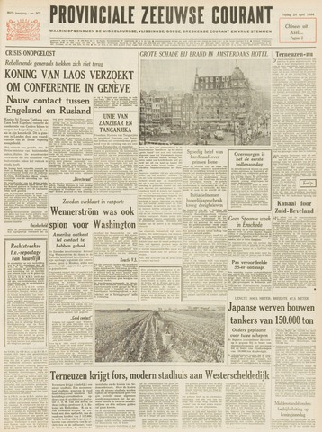 Provinciale Zeeuwse Courant 1964-04-24
