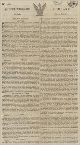 Middelburgsche Courant 1827-09-27