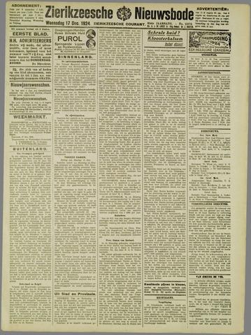 Zierikzeesche Nieuwsbode 1924-12-17