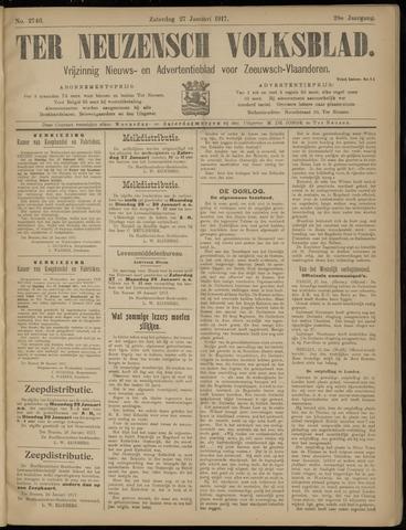 Ter Neuzensch Volksblad. Vrijzinnig nieuws- en advertentieblad voor Zeeuwsch- Vlaanderen / Zeeuwsch Nieuwsblad. Nieuws- en advertentieblad voor Zeeland 1917-01-27