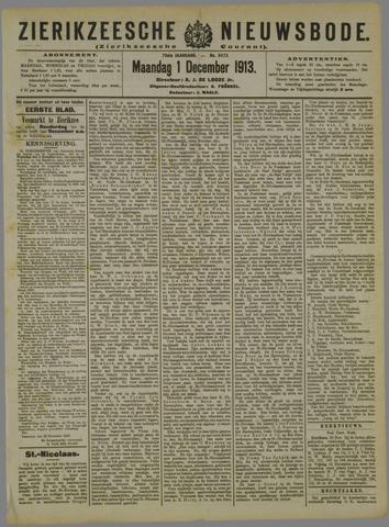 Zierikzeesche Nieuwsbode 1913-12-01