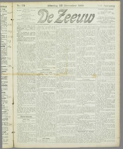 De Zeeuw. Christelijk-historisch nieuwsblad voor Zeeland 1919-12-23