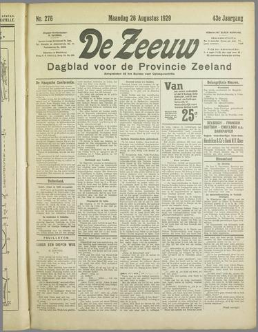 De Zeeuw. Christelijk-historisch nieuwsblad voor Zeeland 1929-08-26