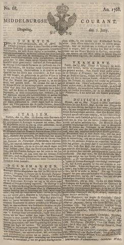 Middelburgsche Courant 1768-06-07