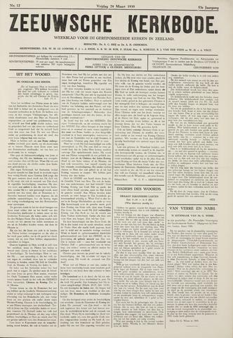 Zeeuwsche kerkbode, weekblad gewijd aan de belangen der gereformeerde kerken/ Zeeuwsch kerkblad 1939-03-24