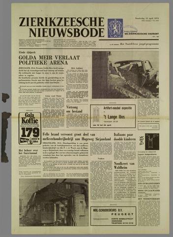 Zierikzeesche Nieuwsbode 1974-04-11