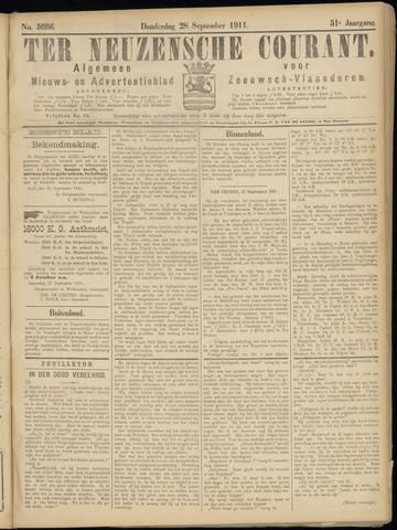 Ter Neuzensche Courant. Algemeen Nieuws- en Advertentieblad voor Zeeuwsch-Vlaanderen / Neuzensche Courant ... (idem) / (Algemeen) nieuws en advertentieblad voor Zeeuwsch-Vlaanderen 1911-09-28