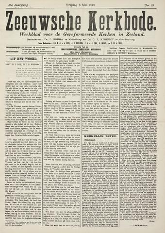 Zeeuwsche kerkbode, weekblad gewijd aan de belangen der gereformeerde kerken/ Zeeuwsch kerkblad 1921-05-06