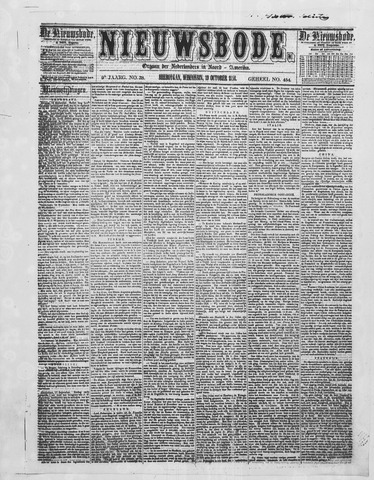 Sheboygan Nieuwsbode 1858-10-19