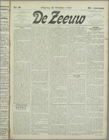 De Zeeuw. Christelijk-historisch nieuwsblad voor Zeeland 1920-10-19