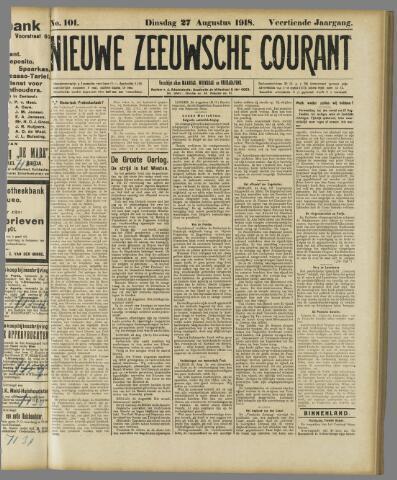 Nieuwe Zeeuwsche Courant 1918-08-27