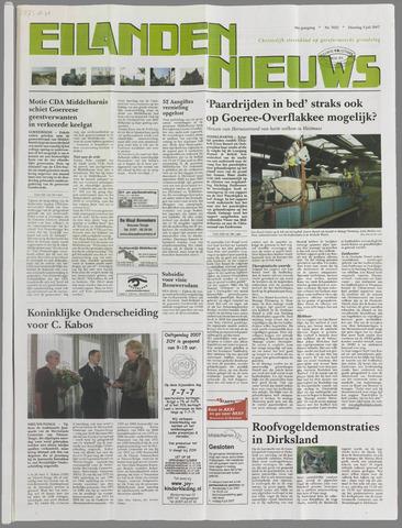 Eilanden-nieuws. Christelijk streekblad op gereformeerde grondslag 2007-07-03