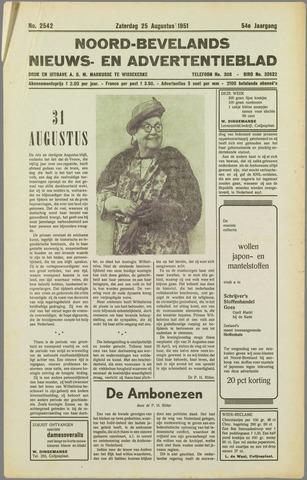 Noord-Bevelands Nieuws- en advertentieblad 1951-08-25