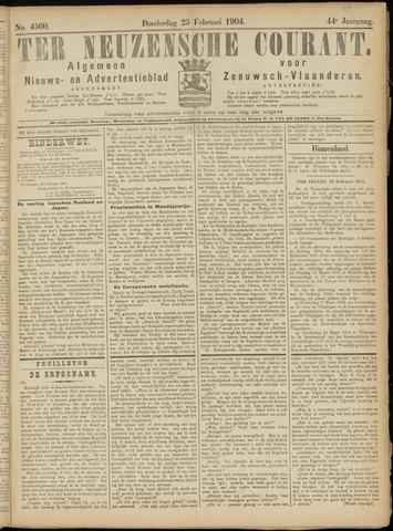 Ter Neuzensche Courant. Algemeen Nieuws- en Advertentieblad voor Zeeuwsch-Vlaanderen / Neuzensche Courant ... (idem) / (Algemeen) nieuws en advertentieblad voor Zeeuwsch-Vlaanderen 1904-02-25