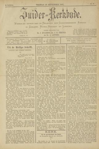Zuider Kerkbode, Weekblad gewijd aan de belangen der gereformeerde kerken in Zeeland, Noord-Brabant en Limburg. 1897-09-10