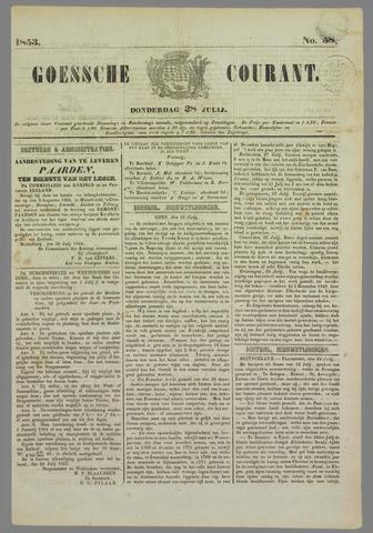 Goessche Courant 1853-07-28
