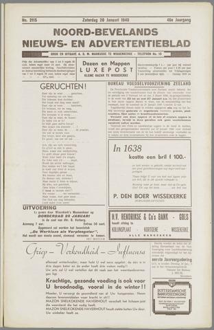 Noord-Bevelands Nieuws- en advertentieblad 1940-01-20