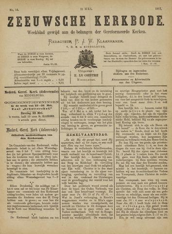 Zeeuwsche kerkbode, weekblad gewijd aan de belangen der gereformeerde kerken/ Zeeuwsch kerkblad 1887-05-21