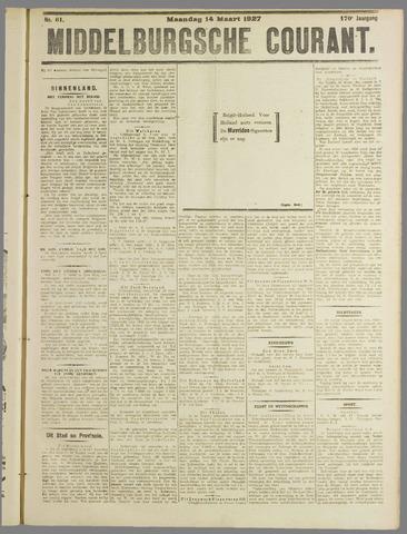 Middelburgsche Courant 1927-03-14