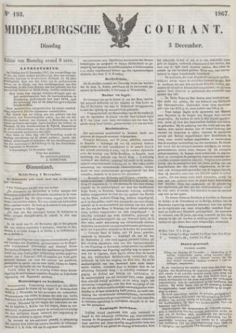 Middelburgsche Courant 1867-12-03